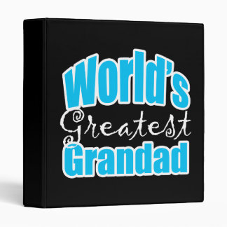 Worlds Greatest Grandad 3 Ring Binder