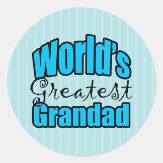 Worlds Greatest Grandad Classic Round Sticker