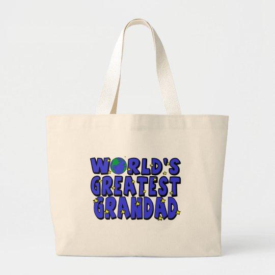 World's Greatest    Grandad Large Tote Bag