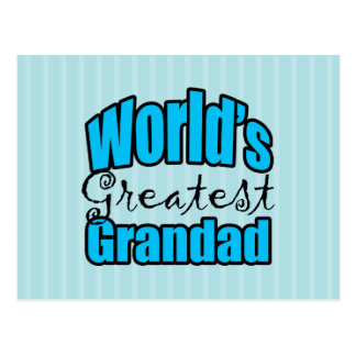 Worlds Greatest Grandad Post Card