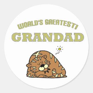 World's Greatest Grandad! Round Sticker