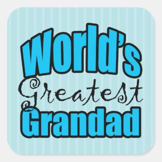 Worlds Greatest Grandad Square Sticker