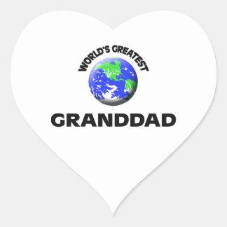 World's Greatest Granddad Heart Sticker