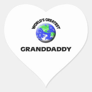 World's Greatest Granddaddy Heart Sticker