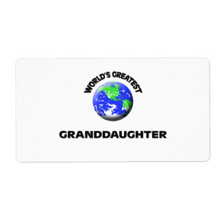 World's Greatest Granddaughter Shipping Label