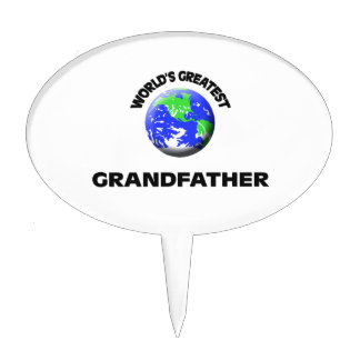World's Greatest Grandfather Cake Toppers