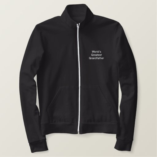 World's Greatest Grandfather Embroidered Jacket