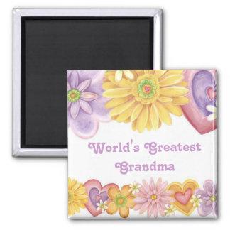 World's Greatest Grandma 1 2 Inch Square Magnet