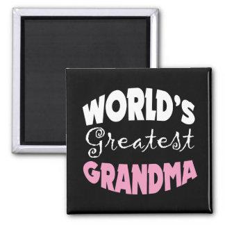 World's Greatest Grandma 2 Inch Square Magnet