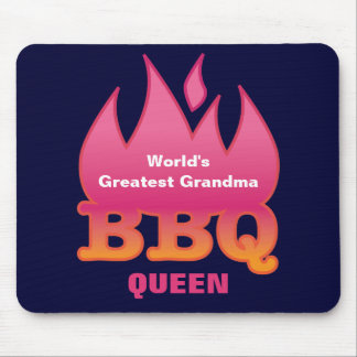 World's Greatest Grandma BBQ QUEEN Mouse Pad