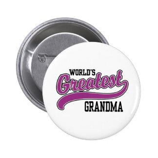 World's Greatest Grandma 2 Inch Round Button
