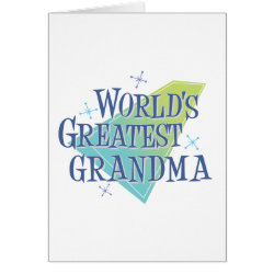 Greeting Card with World's Greatest Grandma design