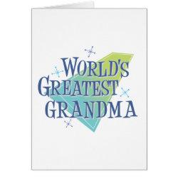 Greeting Card with World's Greatest Grandma design