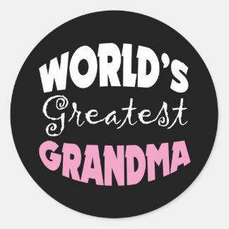 World's Greatest Grandma Classic Round Sticker