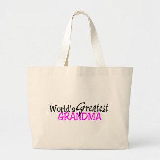 Worlds Greatest Grandma Large Tote Bag