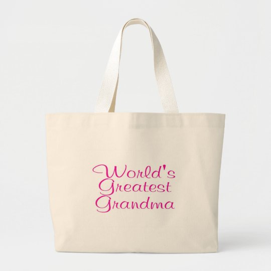 Worlds Greatest Grandma Large Tote Bag