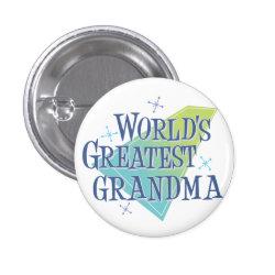 Round Button with World's Greatest Grandma design