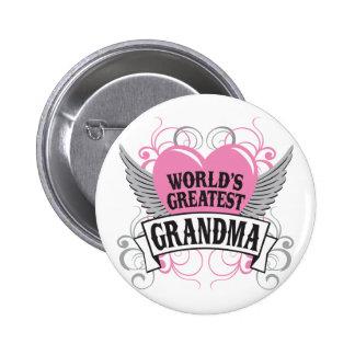 World's Greatest Grandma Pinback Button