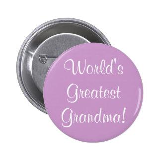 World's Greatest Grandma! Pinback Button