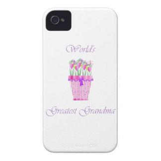 world's greatest grandma (pink flowers) iPhone 4 cases