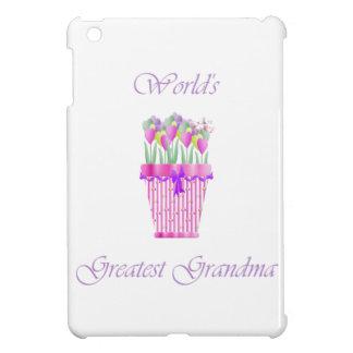 world's greatest grandma (pink flowers) iPad mini cases
