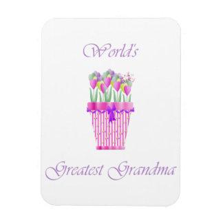world's greatest grandma (pink flowers) magnets
