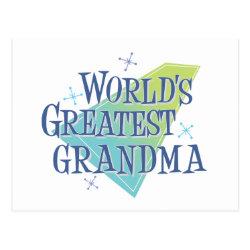 Postcard with World's Greatest Grandma design