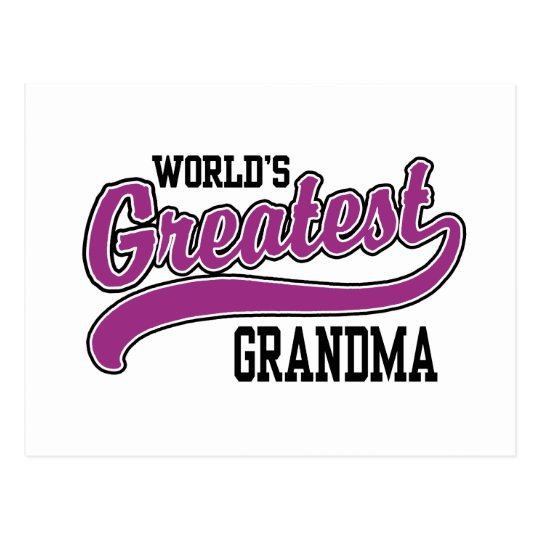 World's Greatest Grandma Postcard
