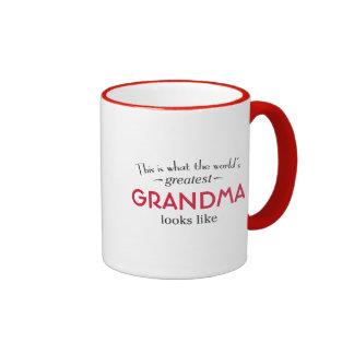 World's Greatest Grandma Ringer Coffee Mug