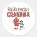 World's Greatest Grandma Round Sticker