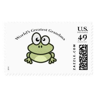World's Greatest Grandma Stamp