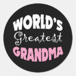 World's Greatest Grandma Stickers