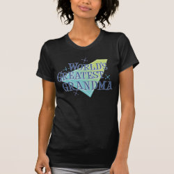 Women's American Apparel Fine Jersey Short Sleeve T-Shirt with World's Greatest Grandma design