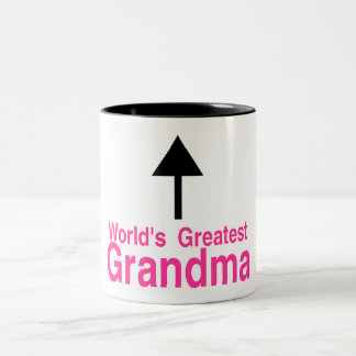 Worlds Greatest Grandma Two-Tone Coffee Mug
