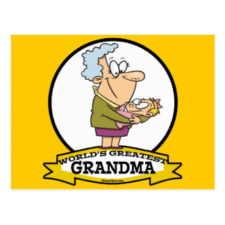 WORLDS GREATEST GRANDMA WOMEN CARTOON POSTCARD