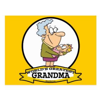 WORLDS GREATEST GRANDMA WOMEN CARTOON POSTCARD