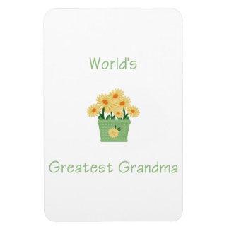 world's greatest grandma (yellow flowers) vinyl magnet