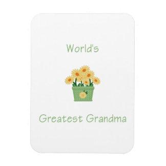 world's greatest grandma (yellow flowers) rectangular photo magnet