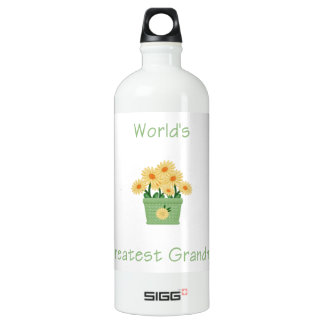 world's greatest grandma (yellow flowers) SIGG traveler 1.0L water bottle
