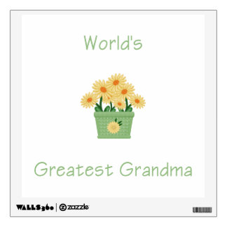 Yellow Flowers Wall Decals  Wall Stickers Zazzle - Yellow flower wall decals
