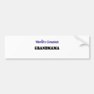 World's Greatest Grandmama Bumper Sticker