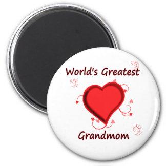 World's greatest grandmom refrigerator magnets