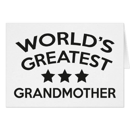 World's Greatest Grandmother Card