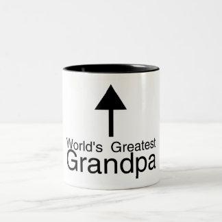 Worlds Greatest Grandpa Arrow Two-Tone Coffee Mug