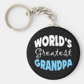 Worlds Greatest Grandpa Basic Round Button Keychain