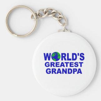 World's Greatest Grandpa Basic Round Button Keychain