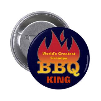 World's Greatest Grandpa BBQ KING Button