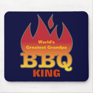 World's Greatest Grandpa BBQ KING Mouse Pad