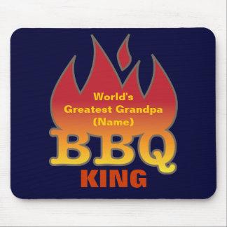 World's Greatest Grandpa BBQ KING Mouse Pad