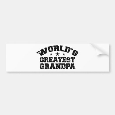 Worlds greatest grandpa words bumper sticker zazzle com